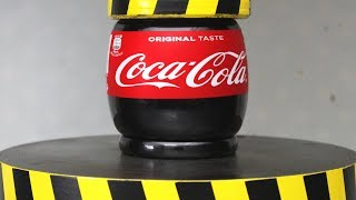 EXPERIMENT HYDRAULIC PRESS 100 TON vs COCA COLA thumbnail