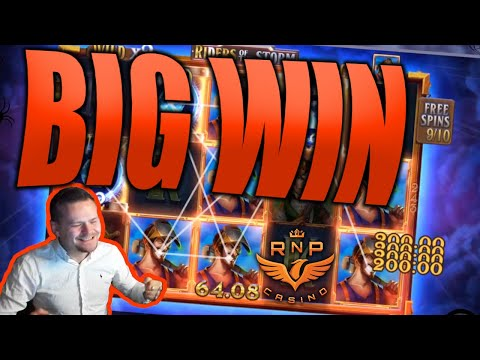 Big Win on Riders Of The Storm Slot - Casino Stream Big Wins - 동영상