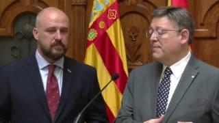 Visita oficial de Ximo Puig al CD Castellón