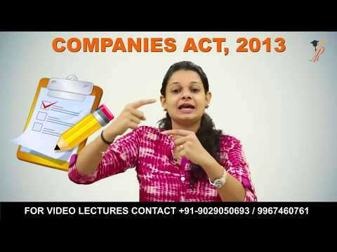 "Lecture on ""Incorporation of Company"" as per Companies Act, 2013 by Prof. Khushboo Sanghavi"