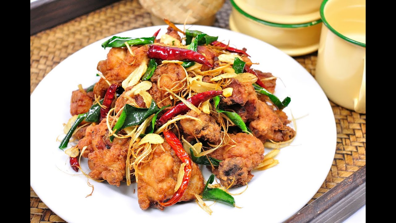 Fried Chicken with Herbs (Thai Food ...