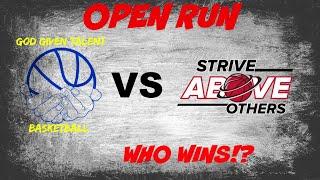 BASKETBALL OPEN RUN!! GGT VS SAO! WHO WINS!?