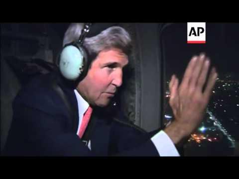US Secretary of State Kerry leaves Afghanistan