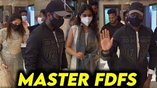Atlee ,Priya ,Keerthi Suresh Watching Master FDFS at Vettri Theater | Thalapathy Vijay