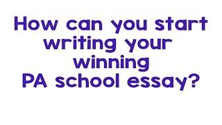 Pa school narrative essay: how to start ...