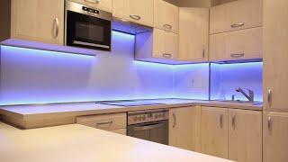 как сделать светодиодную ленту на кухне