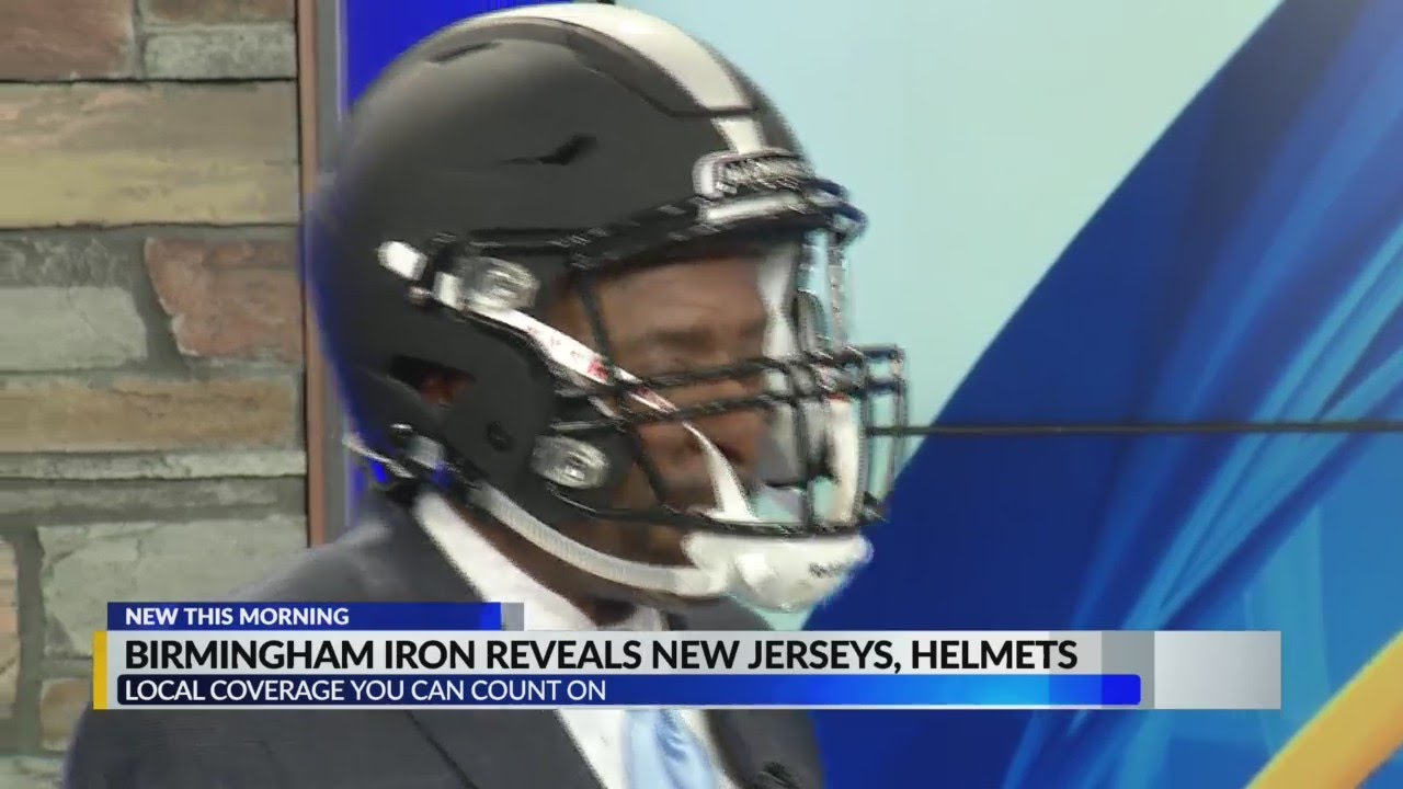 f3fd724c0b1 Birmingham Iron Reveals New Jerseys, Helmets - YouTube