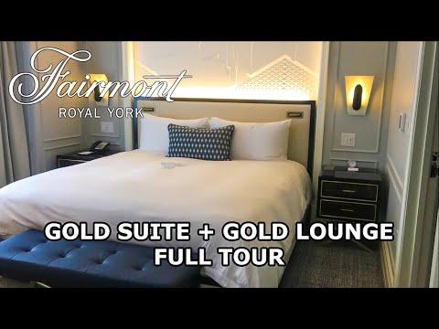 FAIRMONT ROYAL YORK GOLD SUITE ROOM TOUR 2020 | GOLD LOUNGE | DOWNTOWN TORONTO ONTARIO