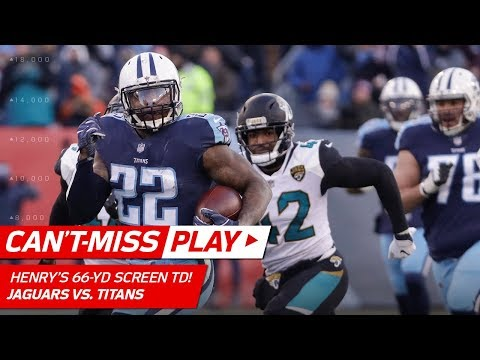 Derrick Henry Takes Screen 66 Yards to the House vs. Jacksonville! | Can't-Miss Play | NFL Wk 17