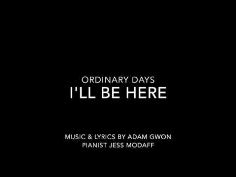 I'll Be Here from Ordinary Days - Piano Accompaniment