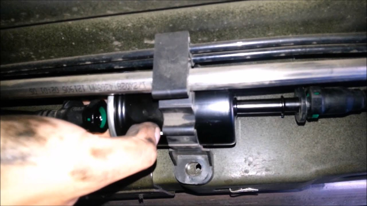 hight resolution of diy how to change your fuel filter 2005 2010 ford mustang gtdiy how to change