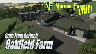 🔴 LIVE: Start From Scratch | Oakfield Farm | Farming Simulator 19