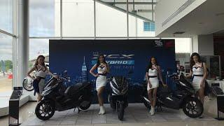 สด บรรยากาศ Honda pcx hybrid เปิดตัว