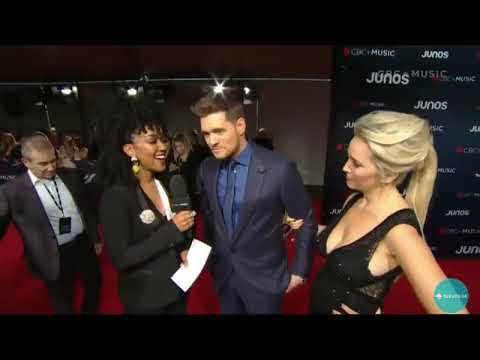 Michael Bublé and Luisana Lopilato Red Carpet Interview Juno Awards 2018