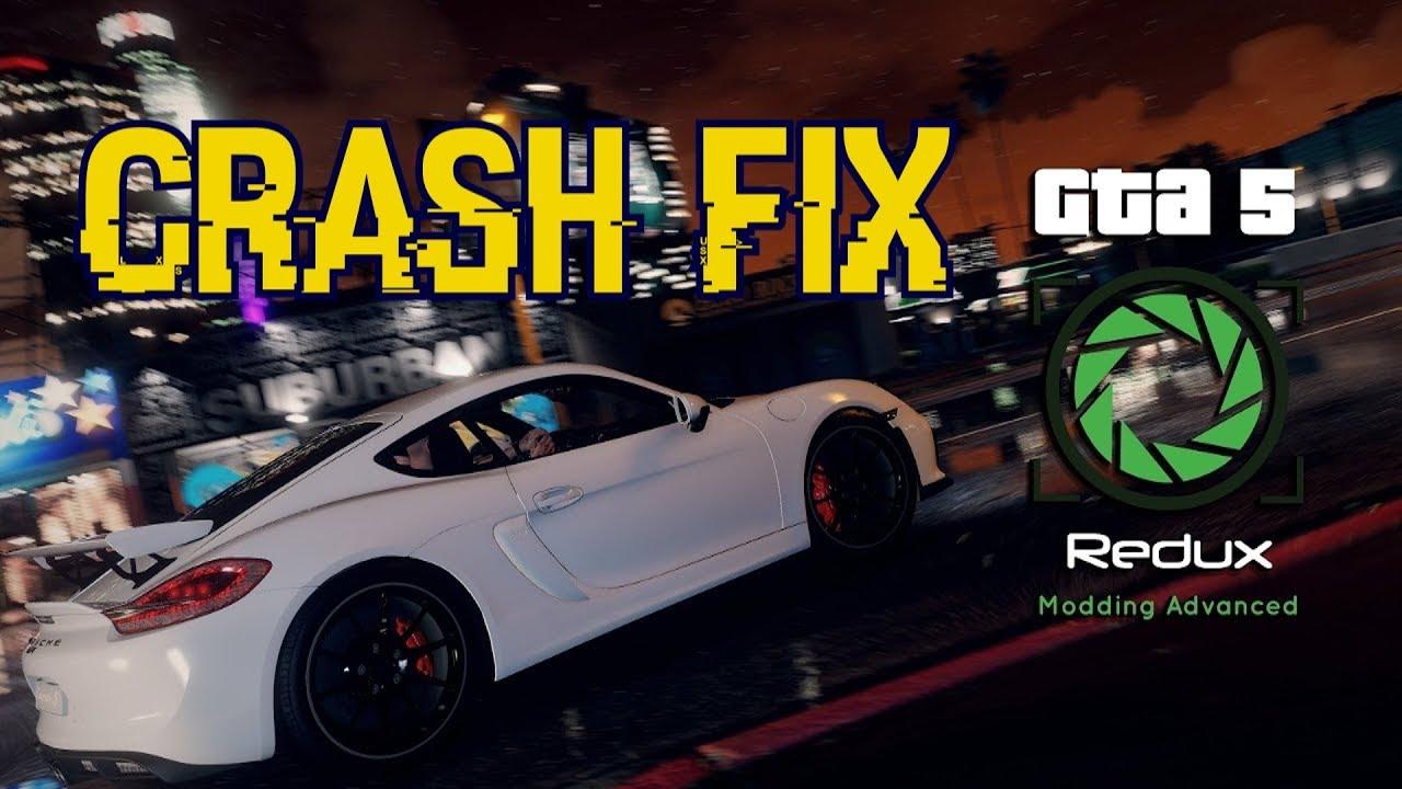 GTA 5 Redux Crash Fix PC