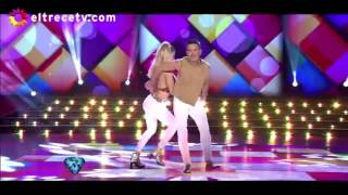 Osvaldo Laport y Macarena Rinaldi bailaron una Cumbia Pop muy sensual