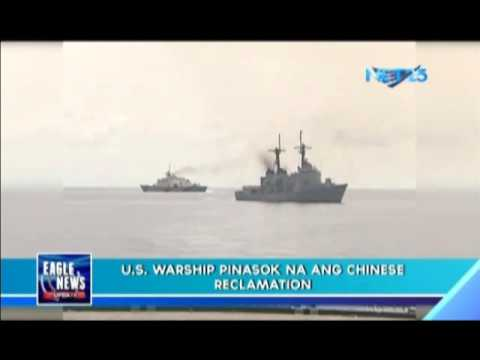 US warship enters Chinese reclamation area