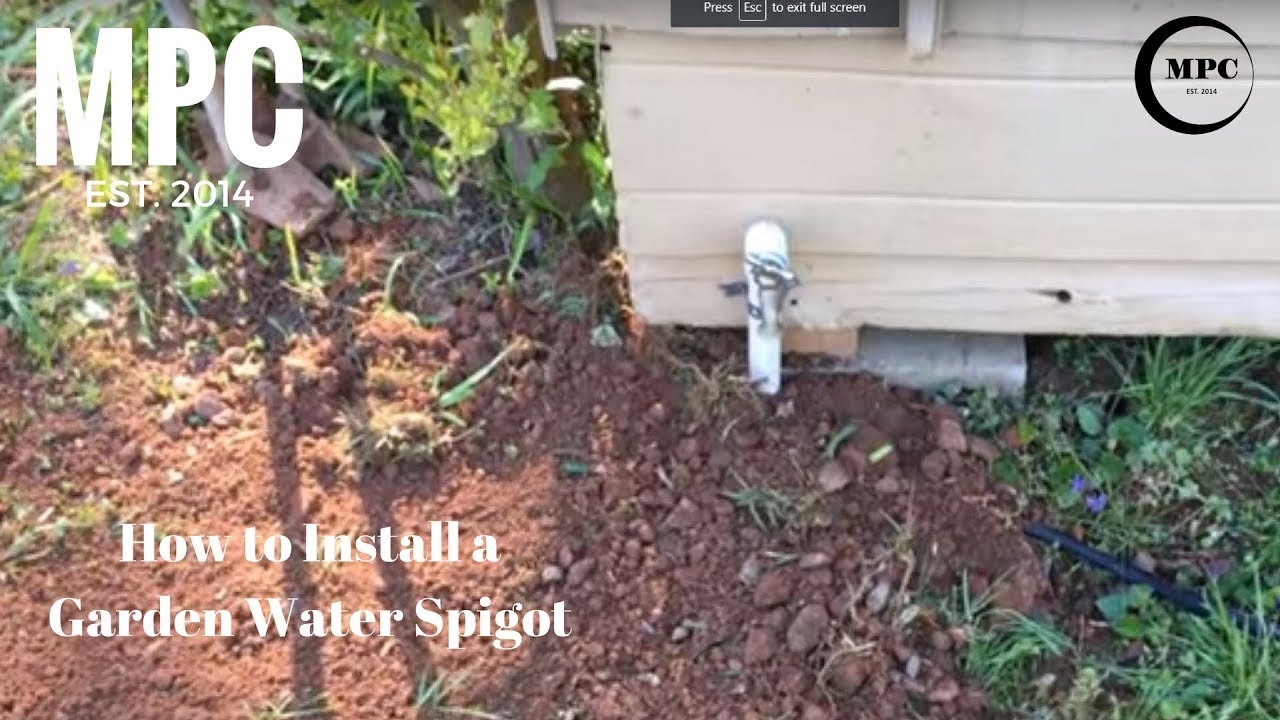 Superieur How To Install A Garden Water Spigot
