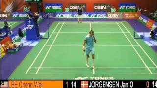 QF - MS - LEE Chong Wei vs Jan O JORGENSEN - 2013 Hong Kong Open (FG2 4-4)