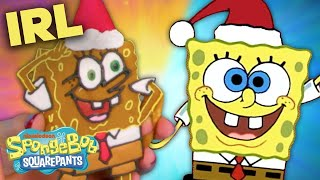 SpongeBob Christmas IRL W/ Gingerbread! | SpongeBob