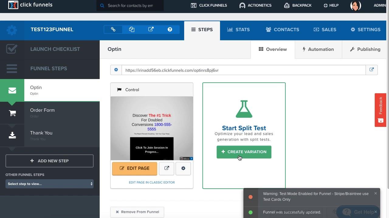 Stripe Order Form Testing – ClickFunnels