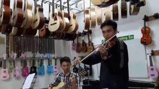 Dạy guitar cần thơ -Giao lưu guitar Violin tại Nhạc cụ Trường Sa Cần Thơ