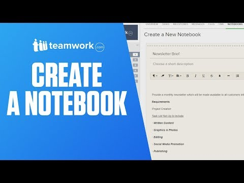 Teamwork Projects - Creating a Notebook