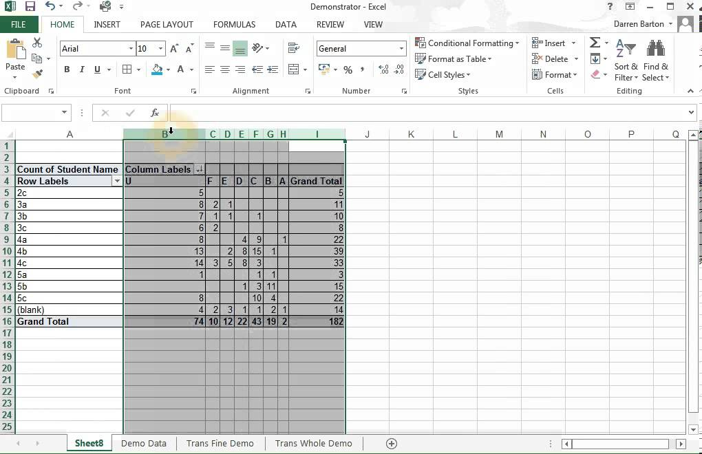 creating a transition matrix with excel youtube