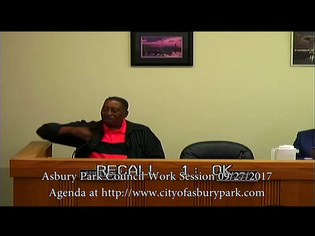 Asbury Park City Council Meeting - Sept. 27, 2017