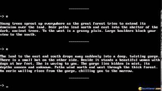 Forbidden Castle gameplay (PC Game, 1985)