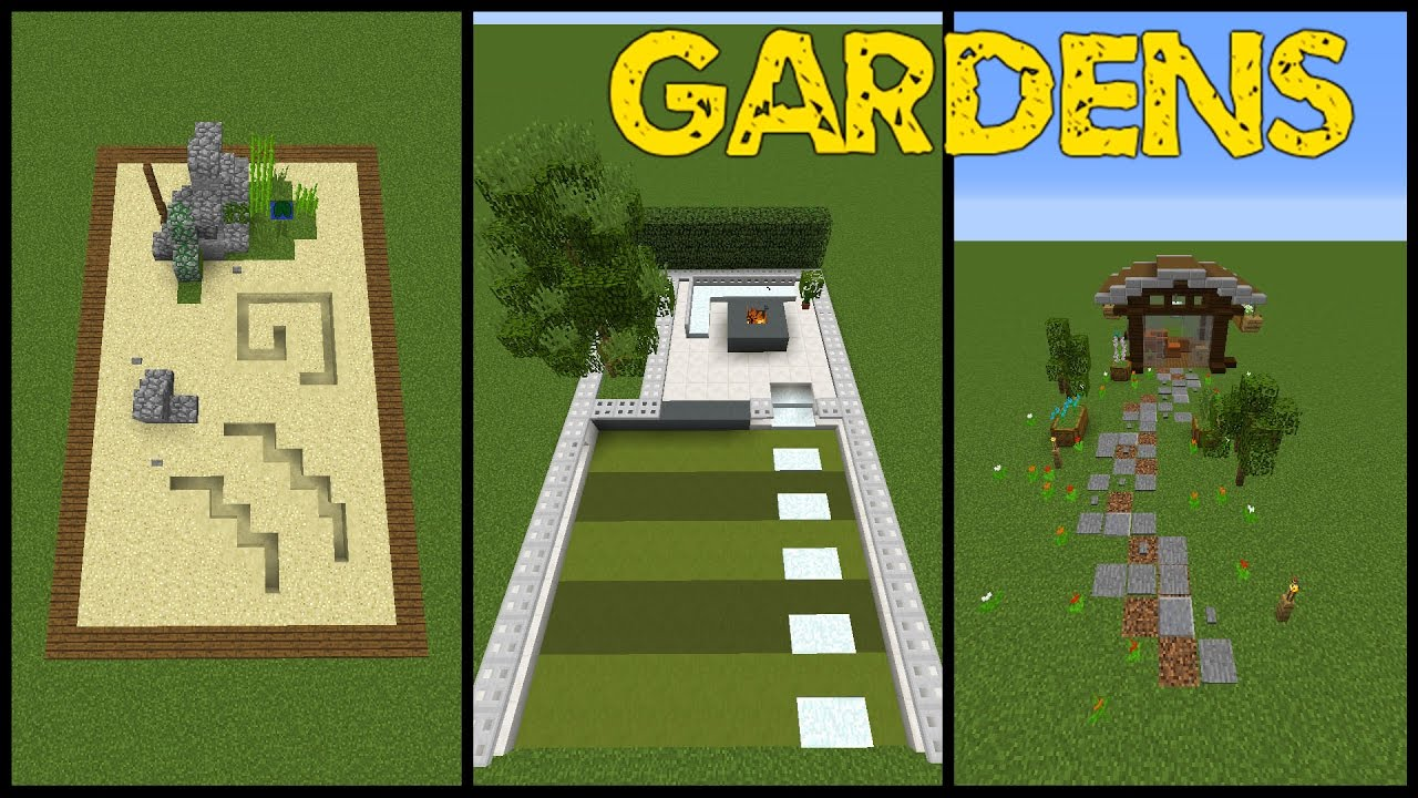 14 minecraft garden designs! (tricks and tips) - youtube