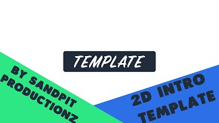 Free 2D Intro Template