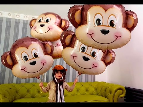 Thumbnail: Five Little Monkey Jumping on the Bed - Big Monkey Balloons
