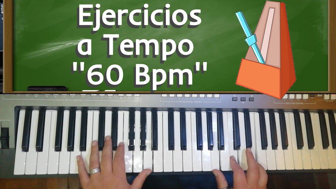 Ejercicios de Piano Con Metrónomo nivel Básico