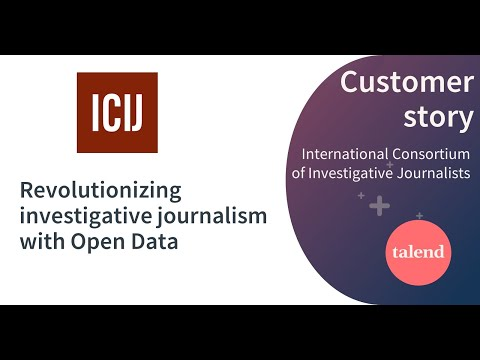 Talend Data Masters 2016: How ICIJ Is Revolutionizing investigative Journalism with Open Data