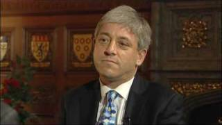 New Speaker John Bercow in angry TV interview spat