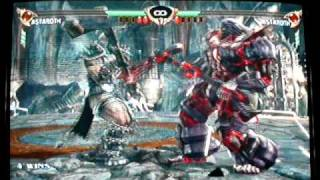 Soul Calibur 4 Kyo(astoroth) vs Hazoroth(red/astoroth)
