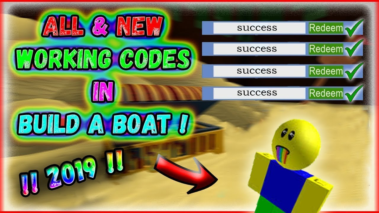 All New Codes October 2019 Build A Boat For Treasure