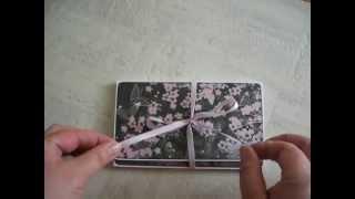 """Minialbum/Insert i rosa och grått """"Wallet style"""""""