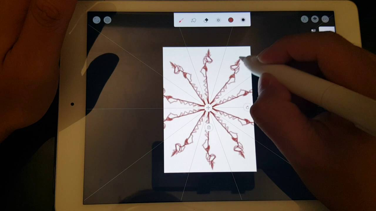 Drawing Smooth Lines Ios : Ios infinite painter 對稱工具 symmetry youtube