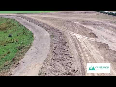 Carterton District Council Waterwater Treatment Site Flyover