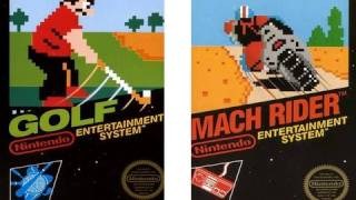 CGRundertow GOLF / MACH RIDER for NES Video Game Review