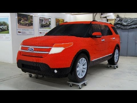 ford explorer made from lego bricks youtube. Black Bedroom Furniture Sets. Home Design Ideas