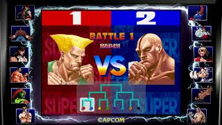 Street Fighter 30th Anniversary Collection - Modo Torneo Switch.