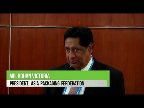 Mr. Rohan Victoria - President - Asia Packaging Federation at PackPlus South'18 & PrintFair'18