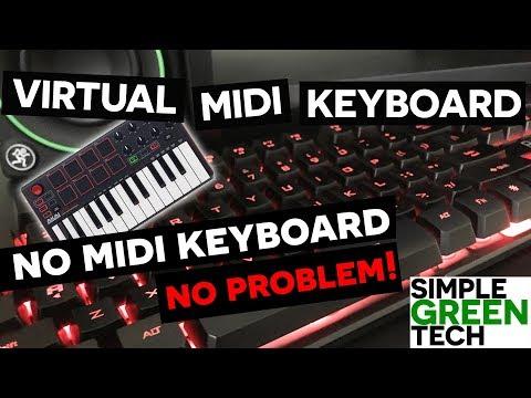 Virtual Midi Piano Keyboard - Tracktion  T7 Tutorial
