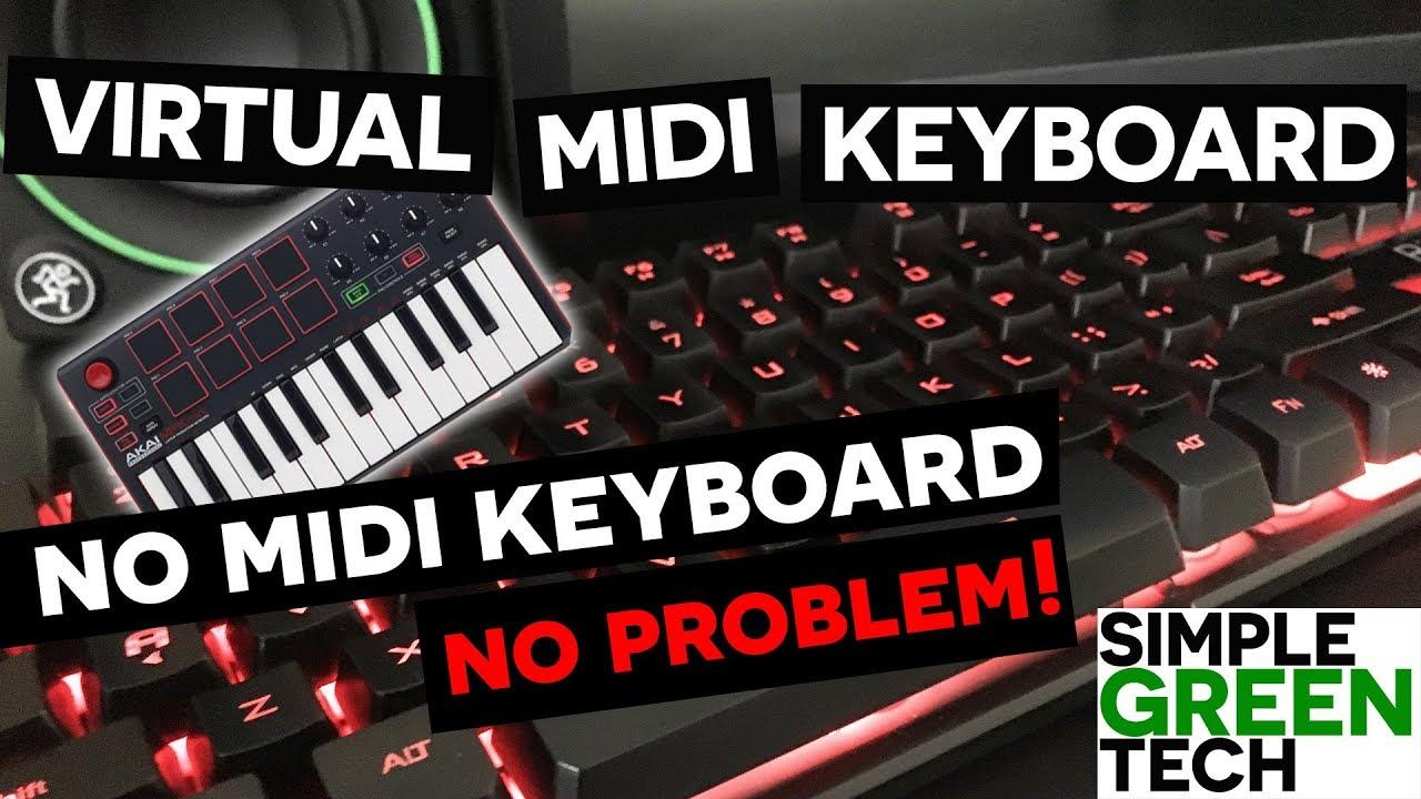 Virtual Midi Piano Keyboard - Tracktion T7 Tutorial - YouTube