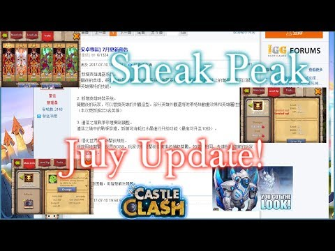 Castle Clash Update Sneak Peak For July_ Armory And Skin System