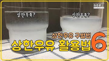 귀주부SUB] 상한우유 활용법 6가지 상한우유 구별법까지 알아봐요