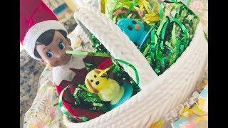 Elf on the Shelf TRAPPED INSIDE EASTER BASKET